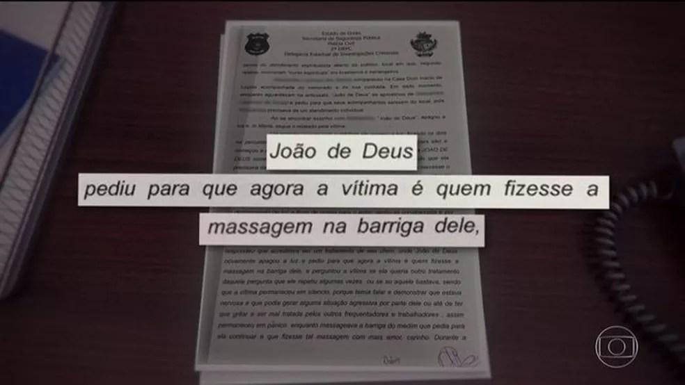 Médium João de Deus é indiciado por violação sexual mediante fraude — Foto: Reprodução/JN