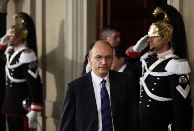 Enrico Letta no palácio presidencial italiano em foto desta quarta-feira (24) (Foto: Max Rossi/Reuters)