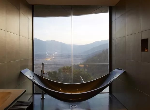 Banheiro do Vik, no Chile (Foto: Reprodução/ Vik)