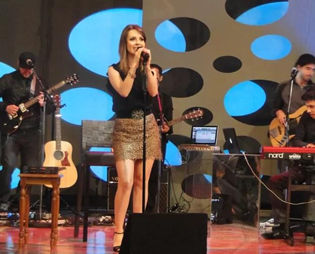 Sandy canta no palco do Caldeirão (Foto: Caldeirão do Huck/TV Globo)