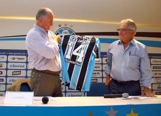 Felipão Fábio Koff Arena Grêmio (Foto: Lucas Uebel/Grêmio FBPA )