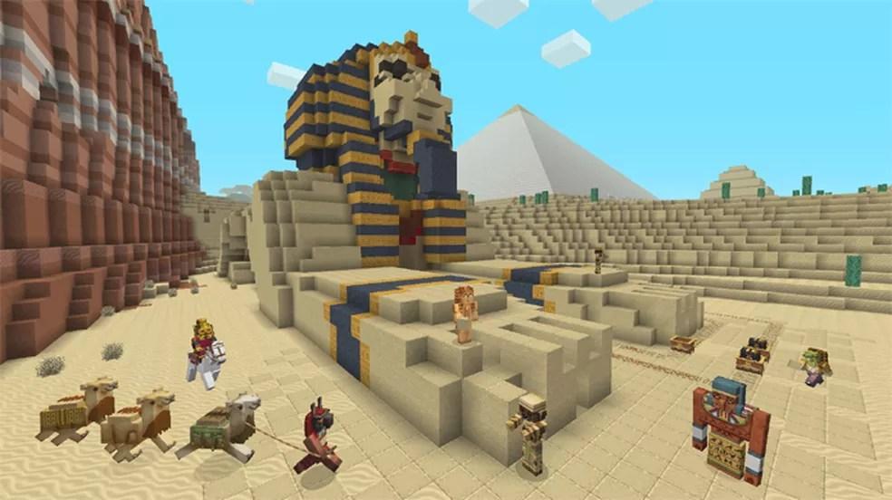Minecraft Ganha Pacote De Mapa E Skins De Mitologia Egpcia Jogos De Aventura TechTudo
