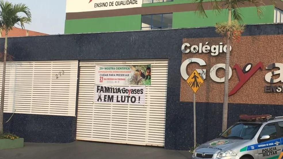 Autor dos disparos e João Vitor eram colegas no Colégio Goyases há pelo menos quatro anos (Foto: Sílvio Túlio/ G1)