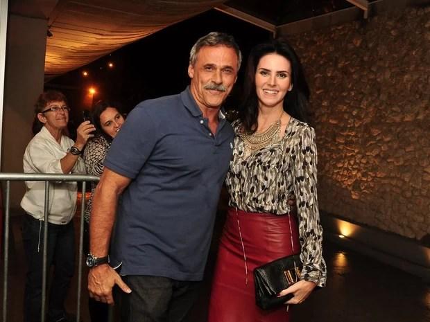 Oscar Magrini e Lisandra Souto (Foto: Roberto Teixeira/ EGO)