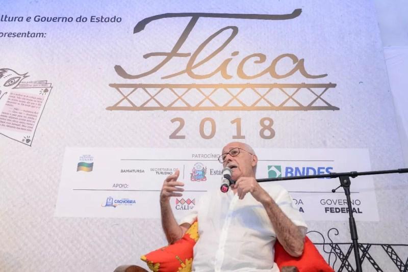 Silviano Santiago na Flica 2018 — Foto: Ricardo Prado