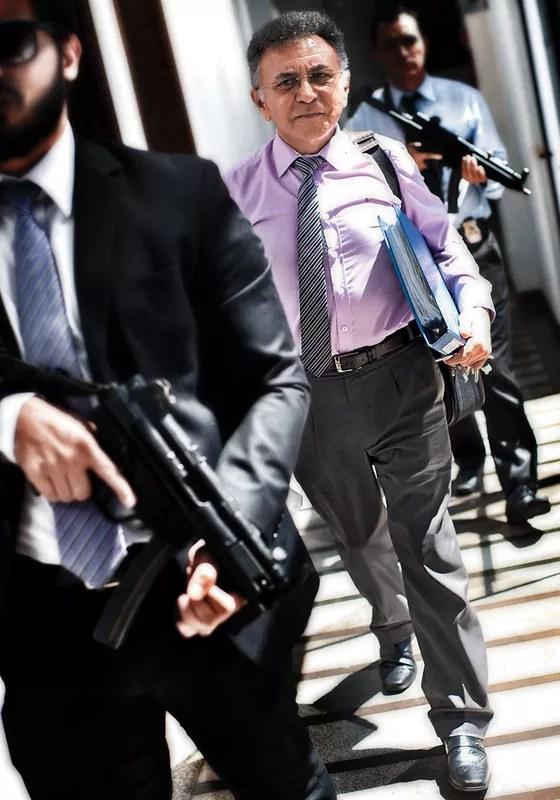 Odilon de Oliveira chega a Justiça Federal no começo de março (Foto: Emiliano Capozoli)
