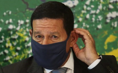 O vice-presidente, Hamilton Mourão, em imagem da última segunda-feira (11) — Foto: Wallace Martins/Futura Press/Estadão Conteúdo