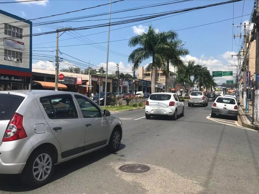 Avenida 31 de Março, no Centro de Votorantim — Foto: Carlos Dias/G1