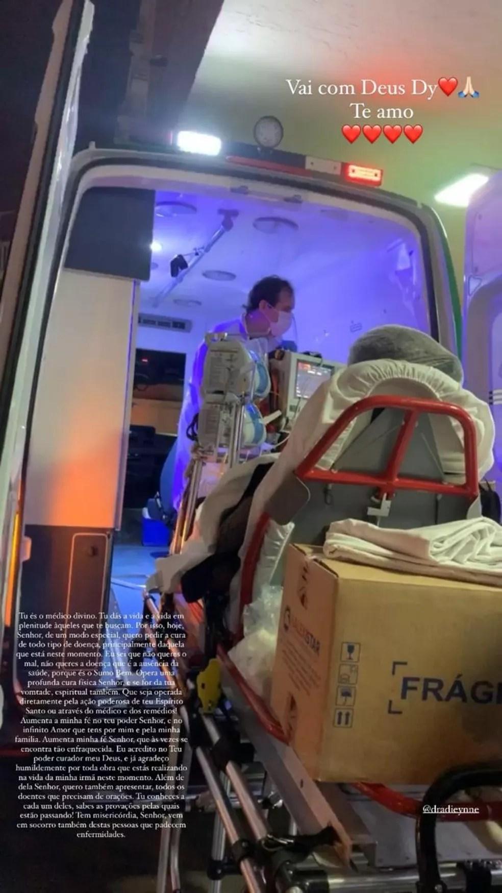 Médica picada por cobra em Mato Grosso foi transferida para São Paulo — Foto: Instagram