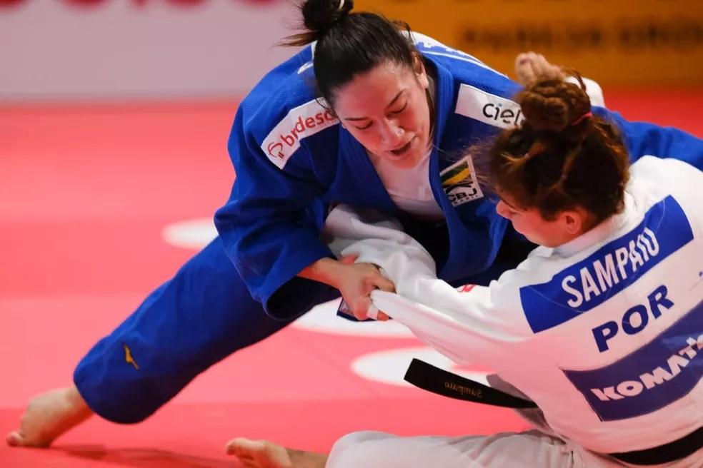 Mayra Aguiar é uma das esperanças de medalha em Tóquio — Foto: Roberto Castro / rededoesporte.gov.br