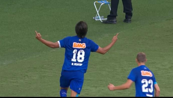 Marcelo Moreno, atacante do Cruzeiro (Foto: Reprodução / TV Globo Minas)