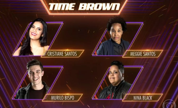 Time Brown: Cristiane Santos, Meggie Santos, Murilo Bispo e Nina Black (Foto: TV Globo)