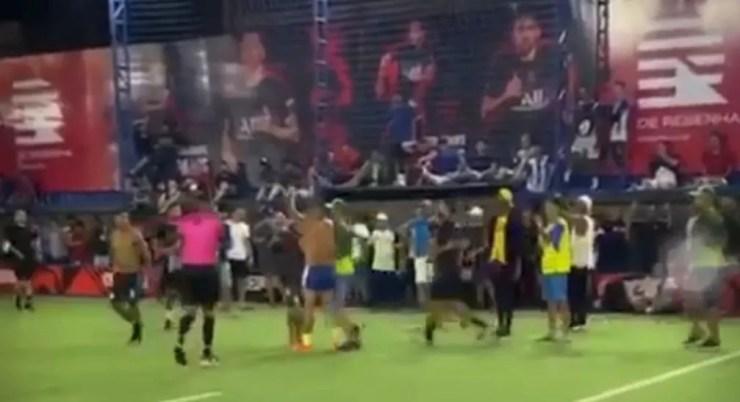 Daniel, Vassoura, Futebol 7, 1 x 1 — Foto: Reprodução/Redes Sociais