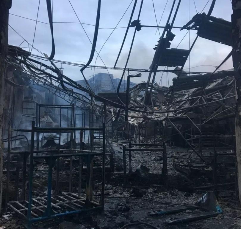 Estrutura de empresa em Itu ficou destruída após incêndio (Foto: Arquivo pessoal)