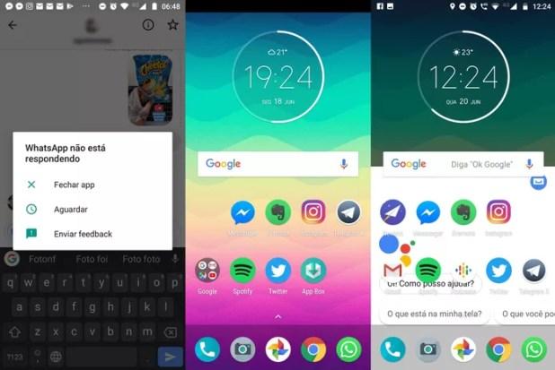 De aplicativo que para de responder à sumiço da barra superior: Moto G6 passou por diversos bugs (Foto: Reprodução / TechTudo)