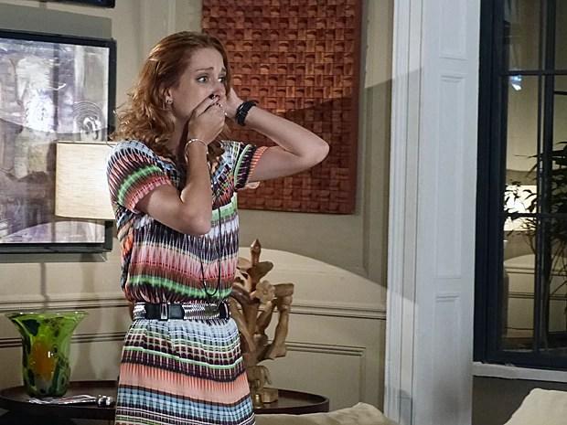 Pri fica desesperada ao saber de gravidez (Foto: Além do Horizonte/TV Globo)