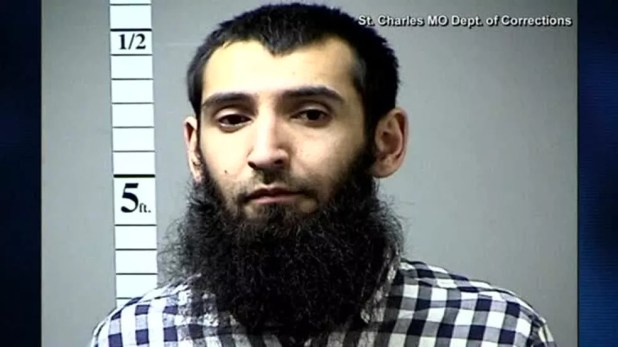 Foto do suspeito de ser o autor do atentado em Nova York nesta terça (31). Ele foi identificado como Sayfullo Saipov, de 29 anos (Foto: Reuters/Department of Corrections )