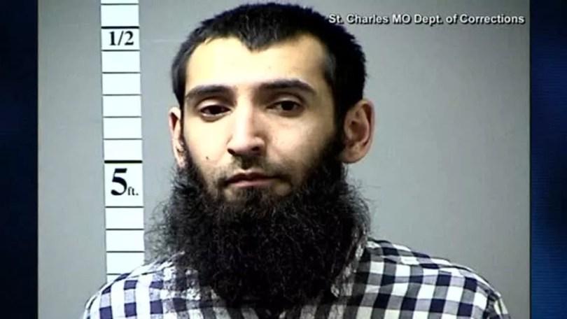 Uzbeque Sayfullo Saipov, de 29 anos, foi apontado como autor do ataque que deixou 8 mortos em Nova York, na tarde de terça-feira (Foto: Department of Corrections/Reuters)