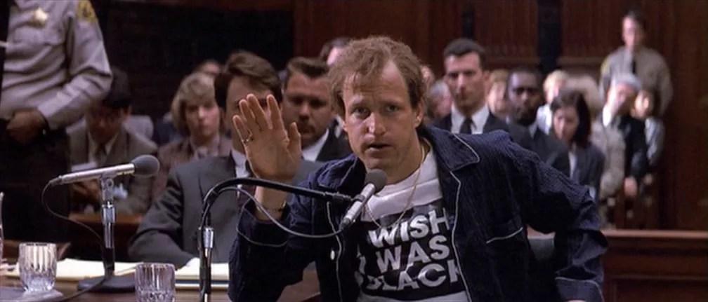 Woody Harrelson interpreta Larry Flynt no filme 'O povo contra Larry Flynt', que rendeu a ele uma indicação ao Oscar de 1997 — Foto: Divulgação
