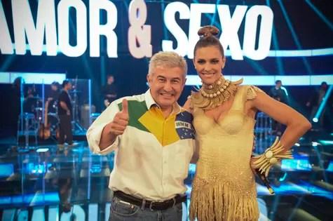 Marcos Pontes e Fernanda Lima (Foto: Raphael Dias/TV Globo)