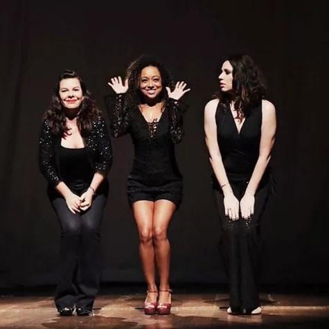 Fernanda Souza, Aretha Oliveira e Francis Helena Cozta (Foto: Reprodução)