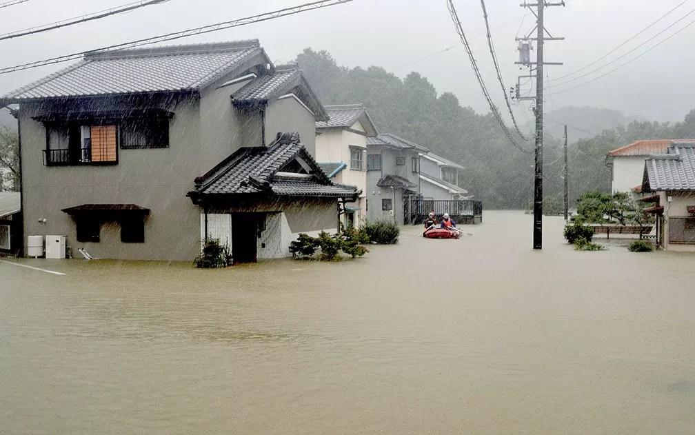 alaga - ENCHENTE, DESTRUIÇÃO E MORTE: Tufão Hagibis chega ao Japão neste sábado - VEJA IMAGENS