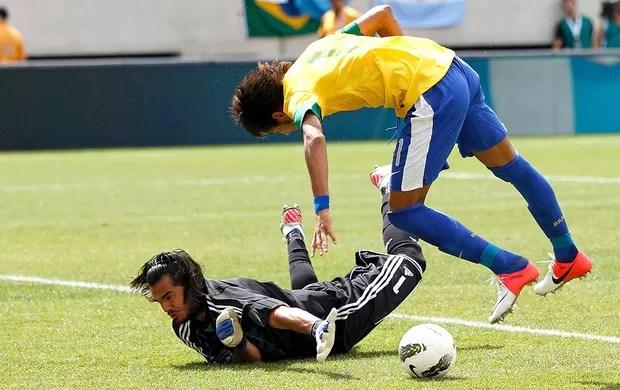 Neymar na partida do Brasil contra a Argentina (Foto: Reuters)
