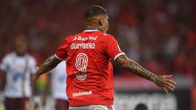 Guerrero abriu o placar para o Inter contra o Tolima