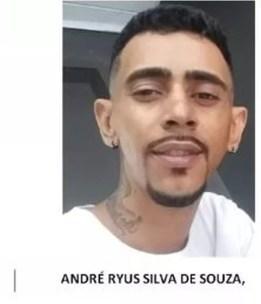 Suspeito no envolvidos na morte de Daniele, André Ryus Silva de Souza,  — Foto: Divulgação