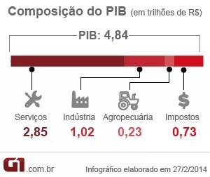 PIB 2013 matéria composição (Foto: Editoria de Arte/G1)