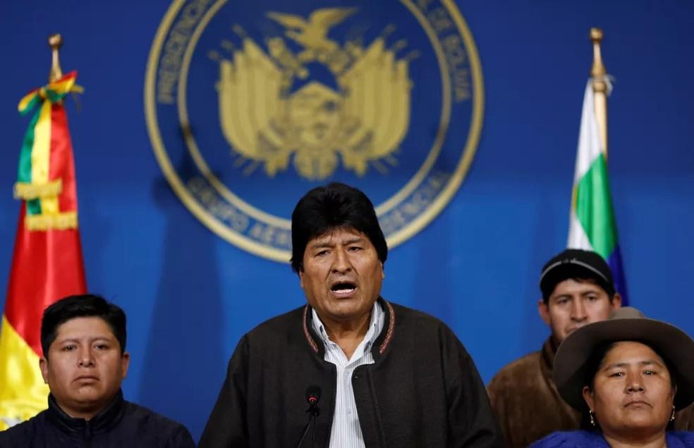 Evo Morales renuncia à presidência da Bolívia — Foto: Reuters/Carlos Garcia Rawlins