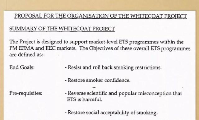 """Assim como no debate climático décadas depois, o projeto (chamado """"Whitecoat"""", ou jalecos brancos) colocou cientistas para debater com cientistas — Foto: BBC"""