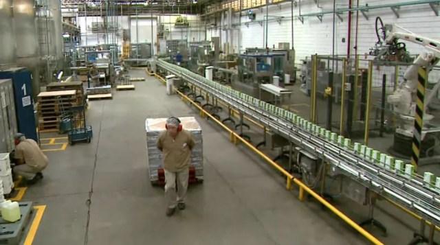 Indústria de laticínios em Patrocínio Paulista (SP) (Foto: Reprodução/EPTV)