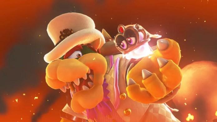 Bowser mais uma vez está por trás das vilanias em 'Super Mario Odyssey' (Foto: Divulgação)