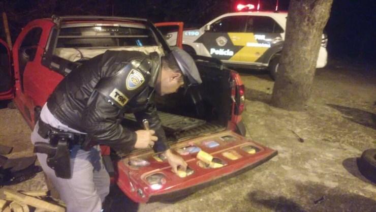 Droga foi apreendida (Foto: Divulgação/Polícia Rodoviária Estadual )