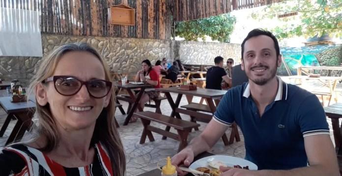 Dormitília Lopes visitou o filho Andrade Santana, na Bahia, no final de 2019 — Foto: Arquivo da família