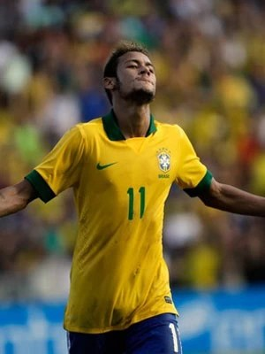 Neymar, autor de dois contra Bolívia, é presença garantida no jogo no Mineirão (Foto: Reuters/Reprodução: Globoesporte.com)