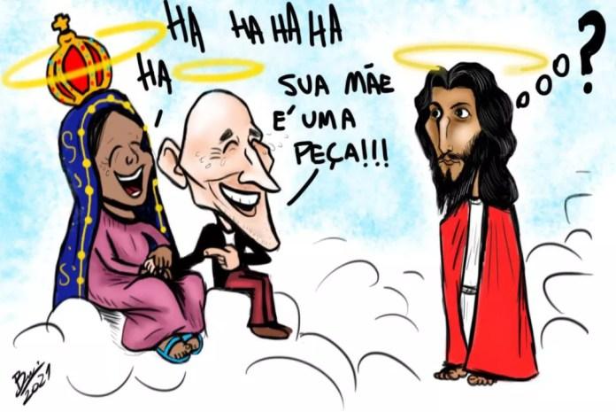 Bruno Dutra faz homenagem a Paulo Gustavo — Foto: Bruno Dutra/Associação dos Cartunistas do Brasil