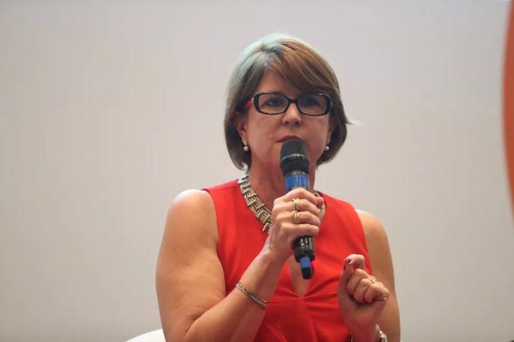 Kátia Smole, secretária de Educação Básica do MEC, durante o evento Educação 360, na quarta-feira (12) em São Paulo — Foto: Divulgação/Wander Roberto/Inovafoto