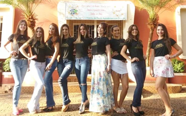 Parte das candidatas que concorrem ao título de Miss Rio Preto 2017 (Foto: Divulgação)