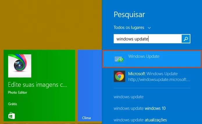 Acesse o Windows Update (Foto: Reprodução/Paulo Alves)