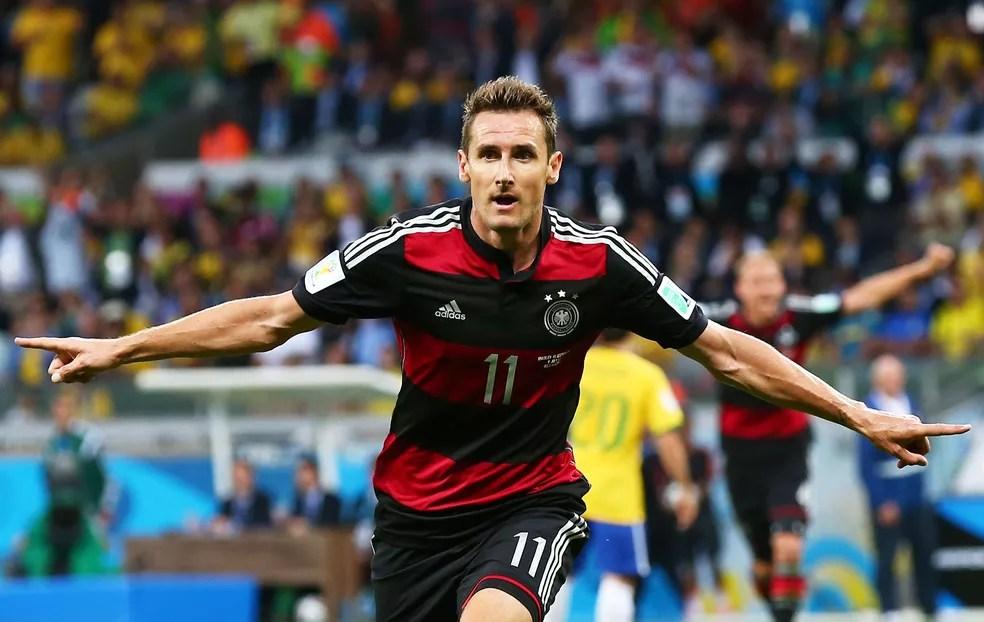 Klose bateu o recorde de gols no Brasil e Alemanha  (Foto: Getty Images)