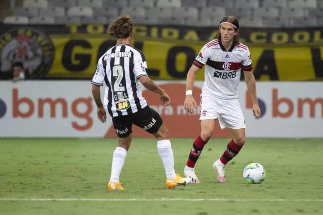 Filipe Luís , do Flamengo — Foto: Alexandre Vidal/Flamengo