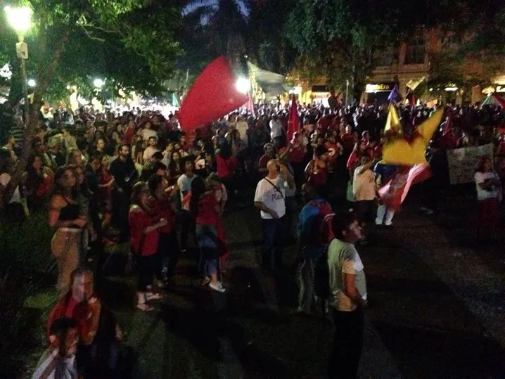 santa maria, Dilma, protesto, RS