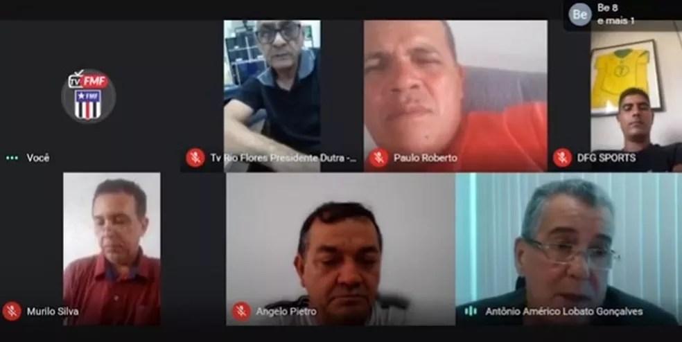 Reunião entre FMF e clubes define adiamento do Campeonato Maranhense — Foto: Reprodução / TV FMF