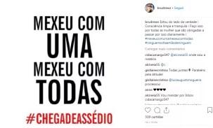 Bruna Drews desabafou sobre assédio de Datena no Instagram (Foto: Reprodução/Instagram)
