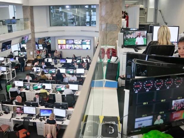 Redação da Al-Jazeera America em Nova York (Foto: Bebeto Matthews/AP)