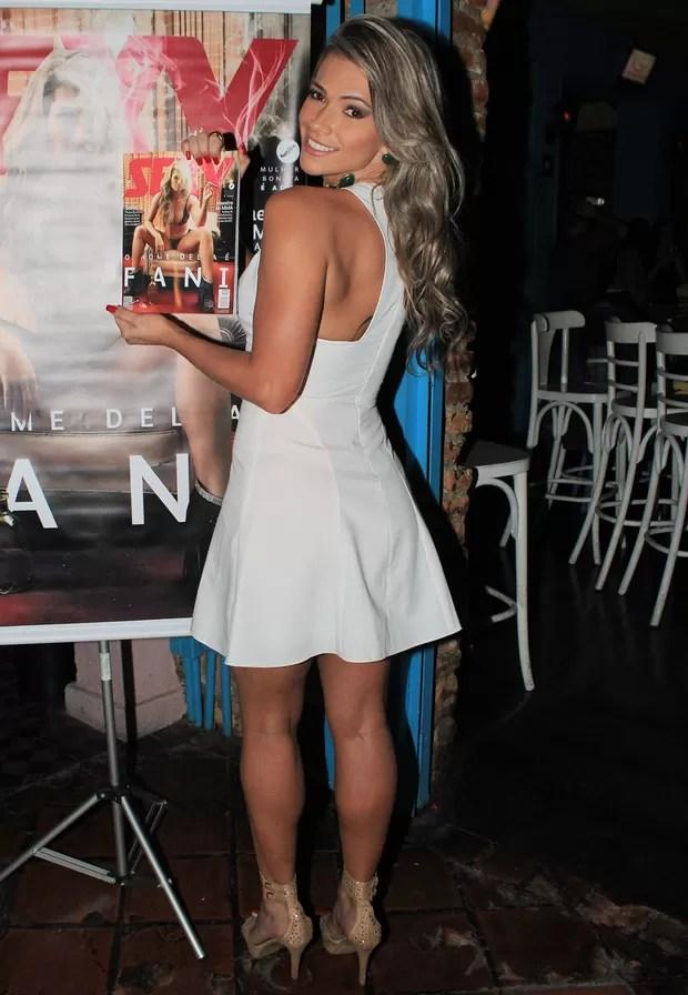 Fani Pacheco no lançamento da 'Sexy' (Foto: Celso Tavares/EGO)