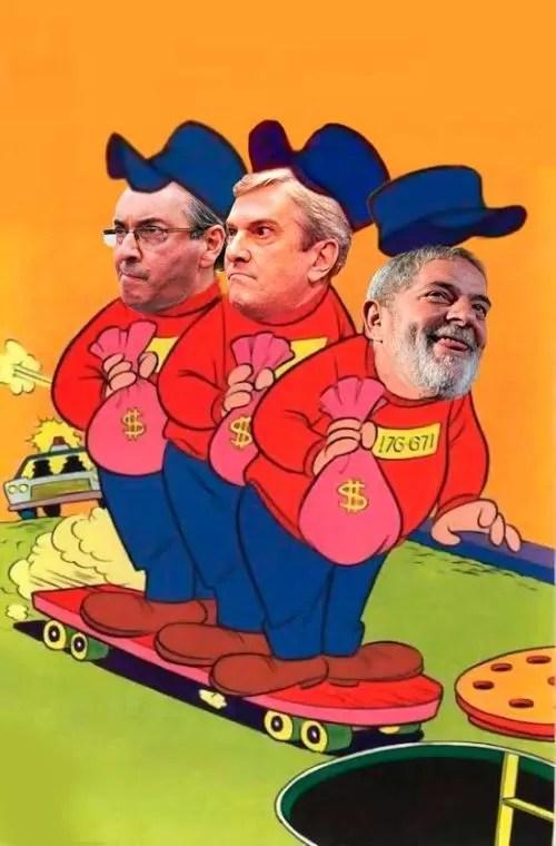 Lula, Collor e Cunha (Foto: Arte: Antonio Lucena)