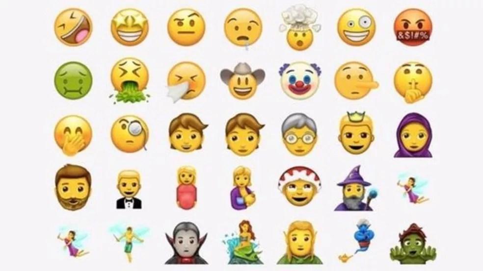 Novo pacote de emojis contém 56 figuras (Foto: Reproduação/Emojipedia)